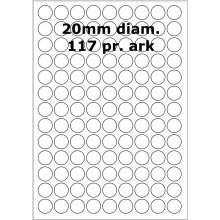 100 ark 31800020 Runde / Ovale Papir Labels
