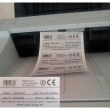 1000 stk 19x10-6-W Pinfeed Polyester til laser