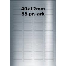 25 ark 40A12SP1-25 Sølvpolyester Bredde 31-60mm