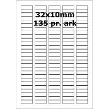 25 ark 32A10W3-25 Hvide Polyester Bredde 31-60mm