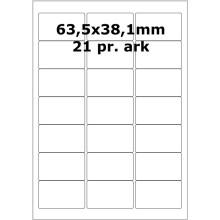 100 ark 64A38H1-HA Aftagelige Papir Labels