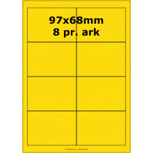 25 ark 99x68-2-Y Farvede Polyester