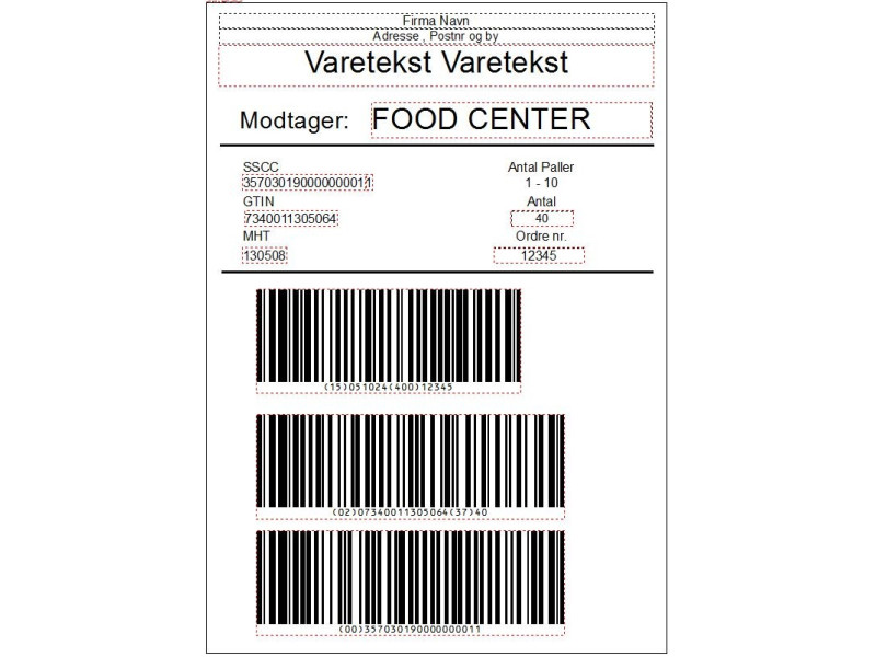 Ark GS1-PRINT Vi printer palle Labels