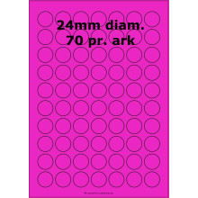 100 ark 24ARH3-P Runde / Ovale Papir Labels