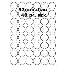 100 ark 31800019 Runde / Ovale Papir Labels