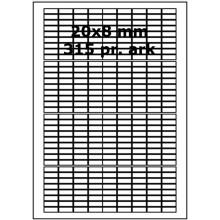 25 ark 20A8W3-25 Hvide Polyester Bredde 00-30mm