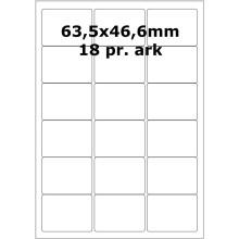 25 ark 63A46W3-25 Hvide Polyester Bredde 61-90mm