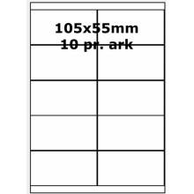 25 ark 105A55W3-25 Hvide Polyester Bredde +91mm