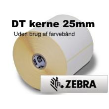 12 ruller 25R76DT5-25Z Hvid DT Kerne 25mm