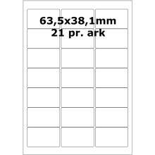 25 ark 63A38MT3-25 Transparente Mat