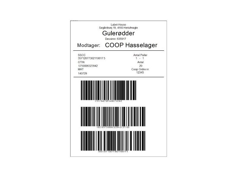 Stk GS1-Pro GS1 Palle softwareløsning