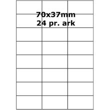 100 ark 70A37UH3-100 Uigennemsigtige Papir Labels
