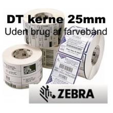 12 Ruller 102R76DT5-25Tag Kartonmærker -Direkte Thermo