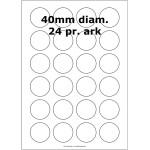 25 ark 40ARGPP3 Højglans Papir Inkjet Printer Runde