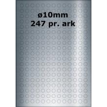 25 ark 10ARSP3-25 Sølvpolyester Runde