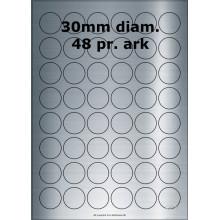 25 ark 30ARSP1-25 Sølvpolyester Runde