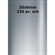 25 ark 35A6SP3-25 Sølvpolyester Bredde 31-60mm
