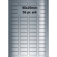 25 ark 40A20SP3-25 Sølvpolyester Bredde 31-60mm