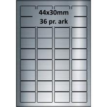 25 ark 44A30SP1-25 Sølvpolyester Bredde 31-60mm