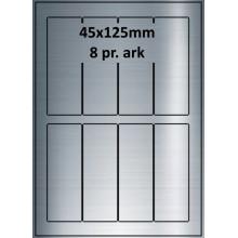25 ark 45A125SP1-25 Sølvpolyester Bredde 31-60mm