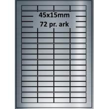 25 ark 45A15SP1-25 Sølvpolyester Bredde 31-60mm