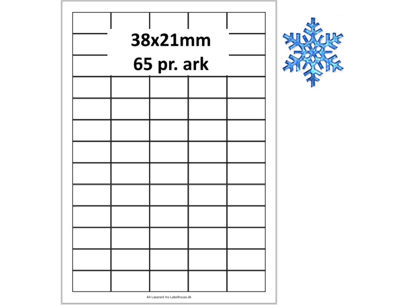 100 Ark 38A21PPTK3 Dybfrost Labels