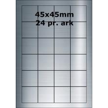 25 ark 45A45SP1-25 Sølvpolyester Bredde 31-60mm