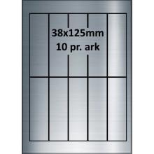 25 ark 38A125SP1-25 Sølvpolyester Bredde 31-60mm