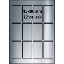 25 ark 45A80SP1-25 Sølvpolyester Bredde 31-60mm