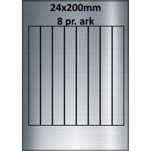 25 ark 24A200SP1-25 Sølvpolyester Bredde 00-30mm