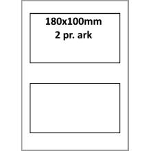 25 ark 180A100W1-25 Hvide Polyester Bredde +91mm