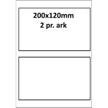 25 ark 200A120W1-25 Hvide Polyester Bredde +91mm