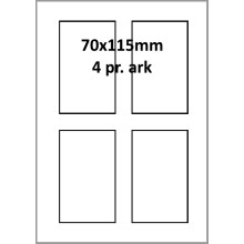 25 ark 70A115W1-25 Hvide Polyester Bredde 61-90mm