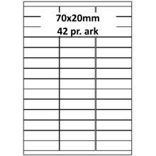 25 ark 70A20W1-25 Hvide Polyester Bredde 61-90mm