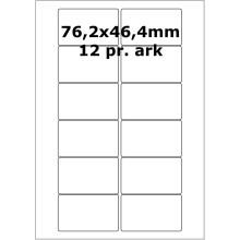 25 ark 76A46W1-25 Hvide Polyester Bredde 61-90mm