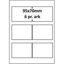 25 ark 95A70W1-25 Hvide Polyester Bredde +91mm