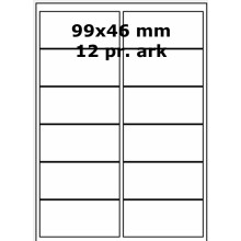 25 ark 99A46W1-25 Hvide Polyester Bredde +91mm