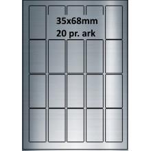 25 ark 35A68SP1-25 Sølvpolyester Bredde 31-60mm