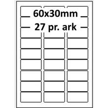25 ark 60A30W1-25 Hvide Polyester Bredde 31-60mm