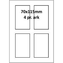 100 ark 70A115H1 Hvid papir Bredde 61-90mm