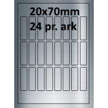 25 ark 20A70SP1-25 Sølvpolyester Bredde 00-30mm