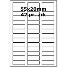 25 ark 55A20W1-25 Hvide Polyester Bredde 31-60mm