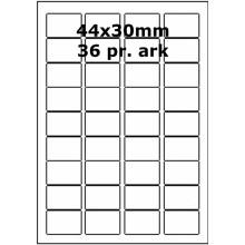 25 ark 44A30W1-25 Hvide Polyester Bredde 31-60mm