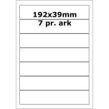 25 ark 192A39W1-25 Hvide Polyester Bredde +91mm