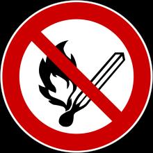 1 Rulle PS3-20-FI Forbudt: Åben ild og rygning