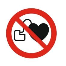 1 Rulle PS3-10-PP Forbudt: Personer med pacemaker