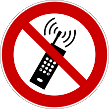 1 Rulle PS3-100-MC Forbudt: Mobil Kommunikation