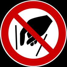 1 Rulle PS3-100-NR Forbudt: Ræk ikke ind