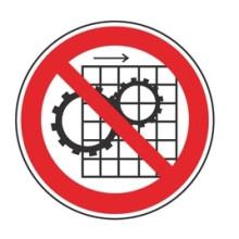 1 Rulle PS3-50-XX Forbudt: Fjernelse af beskyttelses udstyr