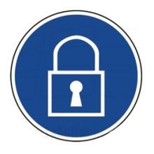 1 Rulle MS3-100-KL Påbud: Hold låst
